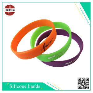 Sport Silicone Wristband with Silk-Screen pictures & photos