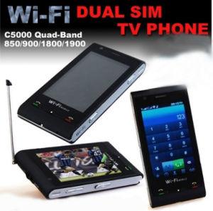 C5000 Dual SIM Dual Standby Quadband WiFi TV Cell Phone