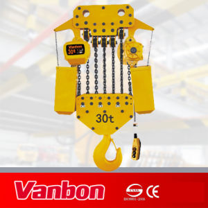 30ton Electric Chain/Fixed Type Hoist (WBH-30012S) pictures & photos
