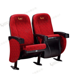 High Quanlity Waterproof Fabric Seats, Comfortable Molded PU Foam Home Theatre Chair Multiplex Theater Cinema Seating pictures & photos
