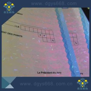 Customized Watermark and UV Fiber Hologram Security Certificate pictures & photos