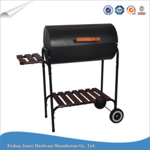 Camping BBQ Grill Charcoal Large Barrel Grill