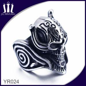 Titanium Die Casting Skeleton Head Skull Ring pictures & photos