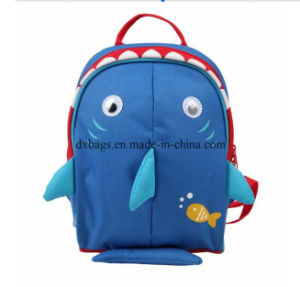 Kids School Backpack, Insulated Lining, Navy Shark Cartoon School Bag pictures & photos