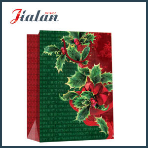 128GSM Glossy Laminated Art Paper Christmas Flowers Gift Paper Bag pictures & photos