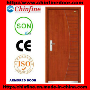 Flat Design Steel-Wood Armored Doors (CF-M040) pictures & photos