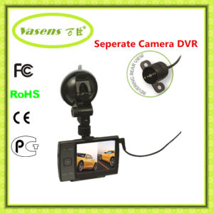 Rearview Mirror Carcam 3.5 Inch Dual Lens Vehicle DVR pictures & photos
