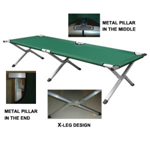 Camouflage Steel Pipe Folding Camping Bed pictures & photos