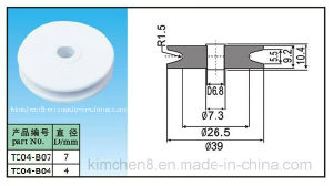 Ceramic Wire Guide Pulley (TC04-1) Industrial Ceramic Roller, Alumina Ceramic Pulley pictures & photos