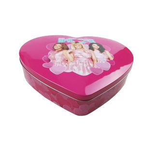 Heart Shape Candle Container Tin Box pictures & photos