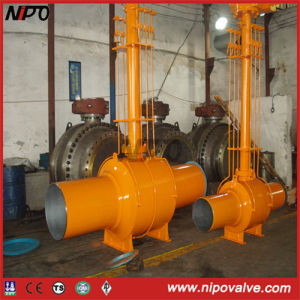 Underground Fully Welded Trunnion Ball Valve pictures & photos