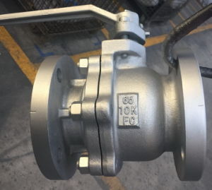 JIS 10K Ball Valve2 PC FC Floating Full Bore pictures & photos