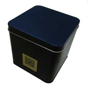 Black Printed Square Candy Biscuit Tea Tin Box pictures & photos