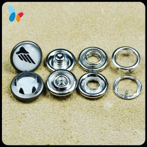 Custom 12mm Pearl Metal Prong Snap Button for Shirt pictures & photos