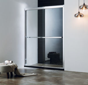 Two Ways Square Triple Linkage Sliding Glass Shower Door pictures & photos