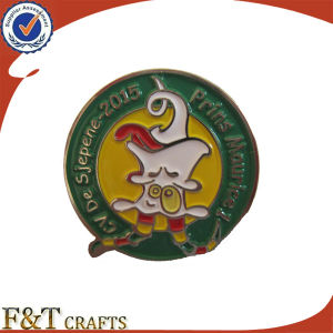 Customized Metal Lapel Badge with Soft Enamel pictures & photos