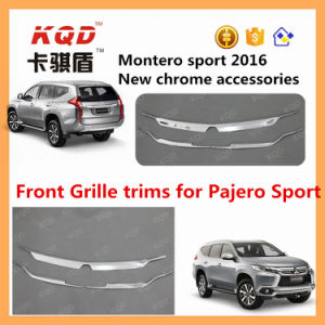 High Quality Plastic ABS Chrome Front Grille Trims Body Kit for Mitsubishi Pajero Auto Front Grille Trims Pajero Sport Accessories
