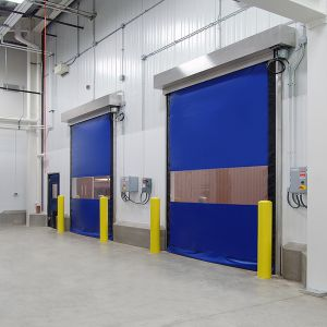 Automatic Inductive PVC Fast Rolling Shutter Doors (HF-1039) pictures & photos