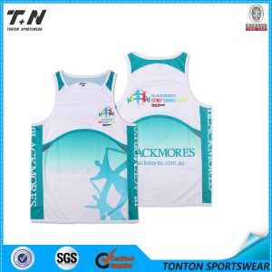 Muay Thai Woman and Men′s White T-Shirt Tank Top Singlet