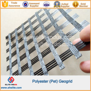 PVC Coating Warp Knitted Polyester Pet Geogrids pictures & photos