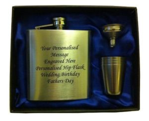 Hip Flask in Gift Box with Funnel and 4 Shots pictures & photos