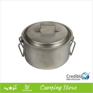 3.6L Ultraight Titanium Pot with Folding Handle pictures & photos