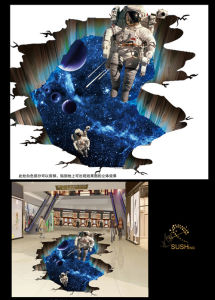 2016 New Astronaut 3D Floor Sticker pictures & photos