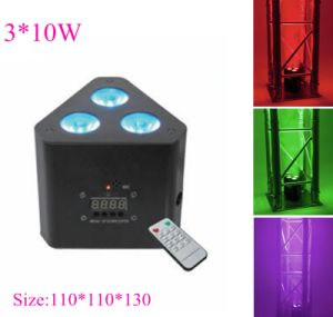 Mini 3*9W Triangle LED Corner Uplight for Event Lighting pictures & photos