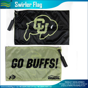 Fans Sponsors Plastic Handle Bar Swirler Rotary Flag pictures & photos