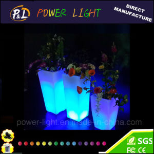 Garden Furniture Color Changing Waterproof RGB LED Illuminating Plant Pot pictures & photos
