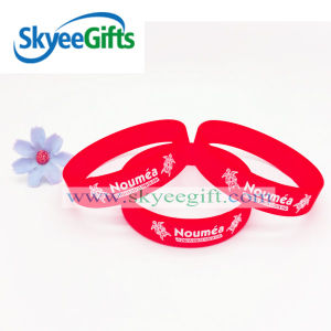 Cheap Debossed Color Fill in Silicone Wristband with Your Logo pictures & photos