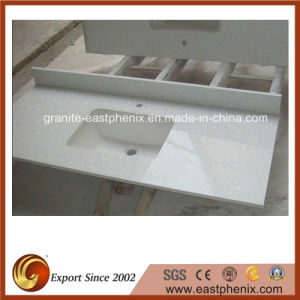 Wholesale Engineered White Artificial Quartz Stone for Vanity Tops pictures & photos