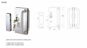 Gl101 Stainless Steel Glass Lock pictures & photos