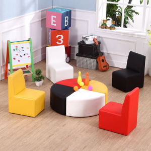 Preschool PVC Chair and Ottoman Children Furnture (SF-333) pictures & photos