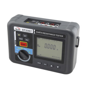 St2307 Ground Resistance Tester Using a Combination of 2-Pole and 3-Pole Stakes and a Clamp
