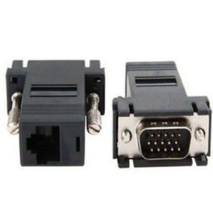 Network Cable Adapter VGA Extender Male to LAN Cat5 Cat5e CAT6 RJ45 Female Adapter pictures & photos