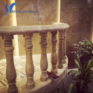 Customized Beige Stone Column for Decoration pictures & photos