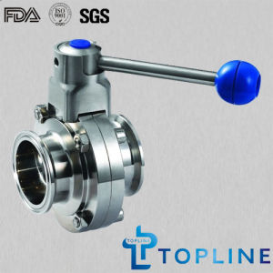 Sanitary Stainless Steel Butterfly Valve with Tri-Clamp Ends pictures & photos