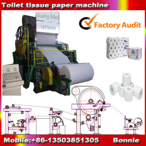 Paper Toilet Tissue Making Machine and Straw Pulp Equipment pictures & photos