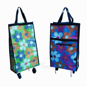 600d Foldable Shopping Trolley Bag with Wheels -- Dxb-1220t pictures & photos