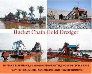 6 Inch Bucket Chain Gold Dredger pictures & photos