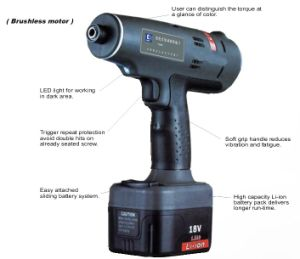 Crodless Shut-off Screwdriver Industrial Cordless Tools pictures & photos