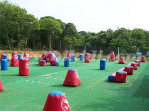 Air Tight Paintball Bunkers, Cheap Obstacle Inflatable Paintball Bunkers K8005 pictures & photos