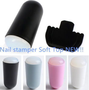 Manicure Printing Tools Bullet Handle Ukraine Soft and Super Soft Silicone Scraper Seal 4 Color Available Nail Art pictures & photos