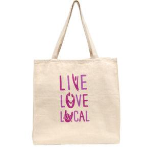 Eco-Friendly White 100% 8oz Cotton Tote Shopper/Shopping Bag