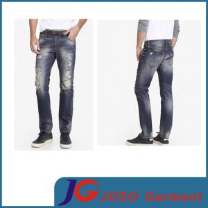 Broken Jeans Men Indigo Blue Jeans City Cloth (JC3380) pictures & photos