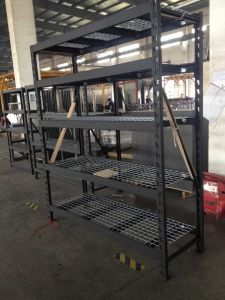 Industrial Warehouse Use Pallet Rack with Wire Mesh Decking