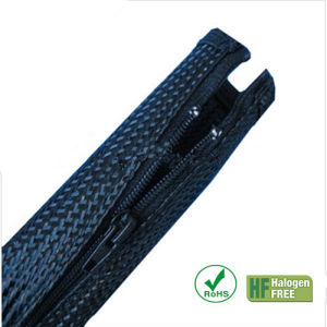 Flexible Black Pet Expandable Zipper Sleeve Braided Cable Wrap pictures & photos
