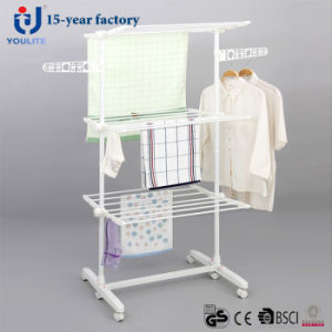 Powder Coated Three Layer Garment Drying Rack pictures & photos