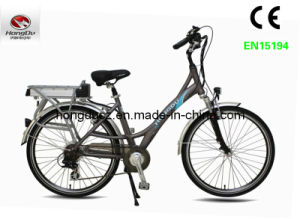 250W Brushless Cheap Electric City Bike with Fork Suspension pictures & photos